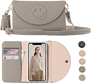 YIZHIN Crossbody Wallet Phone Case for iPhone X/XS 5.8