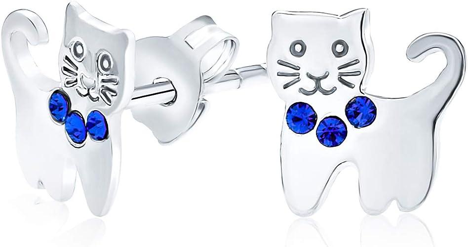 girly earrings mini studs cat lover cute gift animal earrings artemis cat cat/'s eye gift for her Cat studs earring
