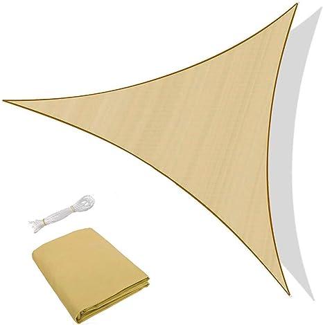 Sunnylaxx Vela de Sombra Triangular 3.6 x 3.6 x 3.6 Metros, toldo ...