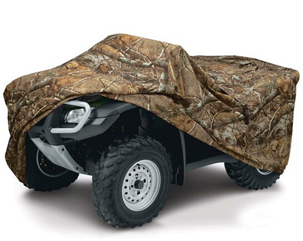 Random Color QCZ07 Camouflage Waterproof ATV Cover Heavy Duty 190T Polyester with Adjuatable Elastic Band Protects from Snow Rain or Sun Fits up to 78-86 inches L: 78.7 37.441.7 INCH