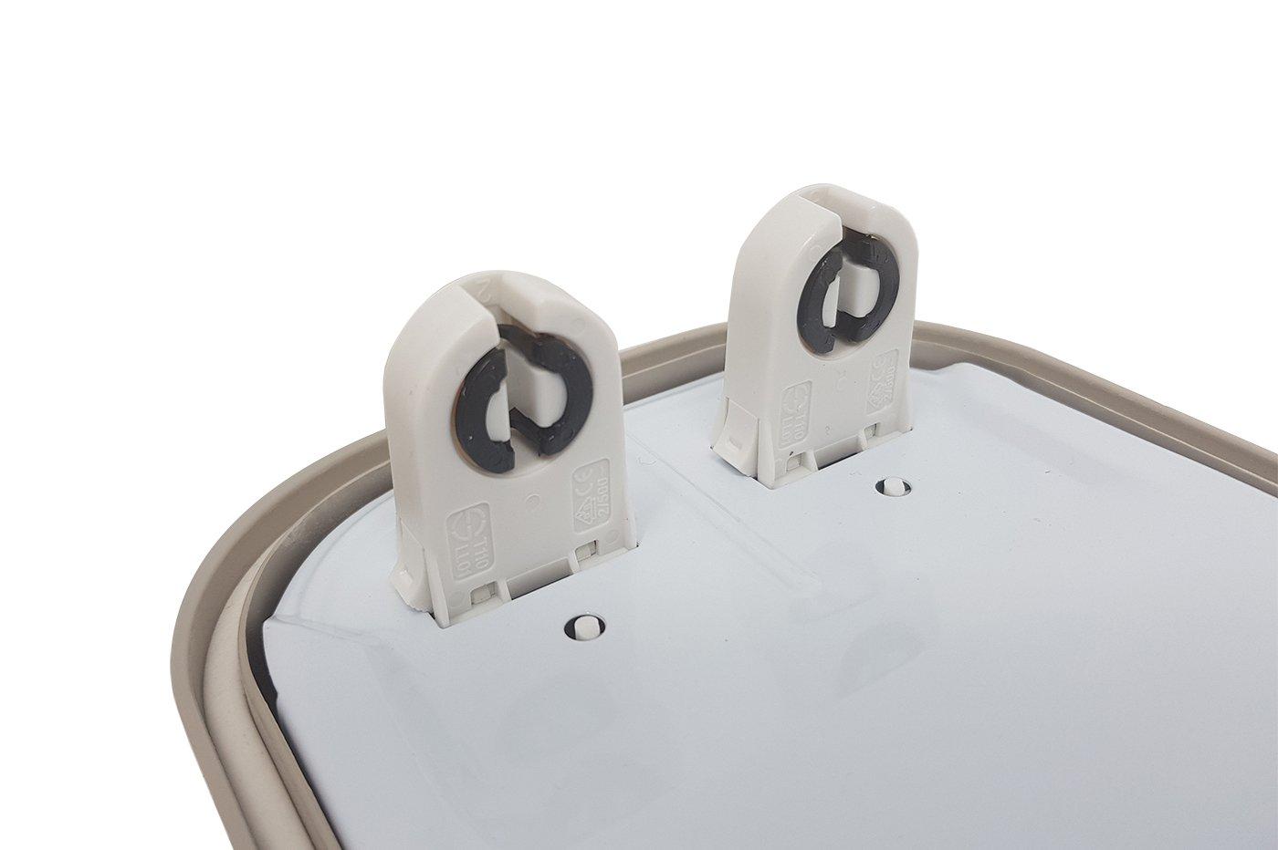 Plafoniera Doppio Neon 150 Cm : Plafoniera led stagna attacco doppio tubo neon t cm esterno