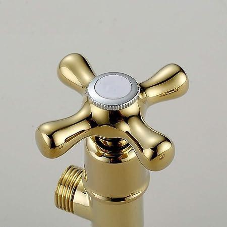 2 Eckventil Gold Universal Edelstahl Schale Keramik Ventileinsatz Hei/ße Und Kalte Toilette Heizung Waschmaschine Eckventil MCLYJ G1