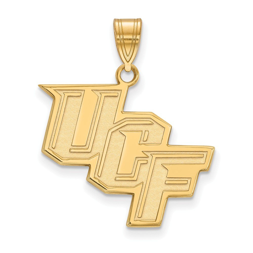 14k Yellow Gold LogoArt Official Licensed Collegiate University of Central Florida (UCF) Large Pendant
