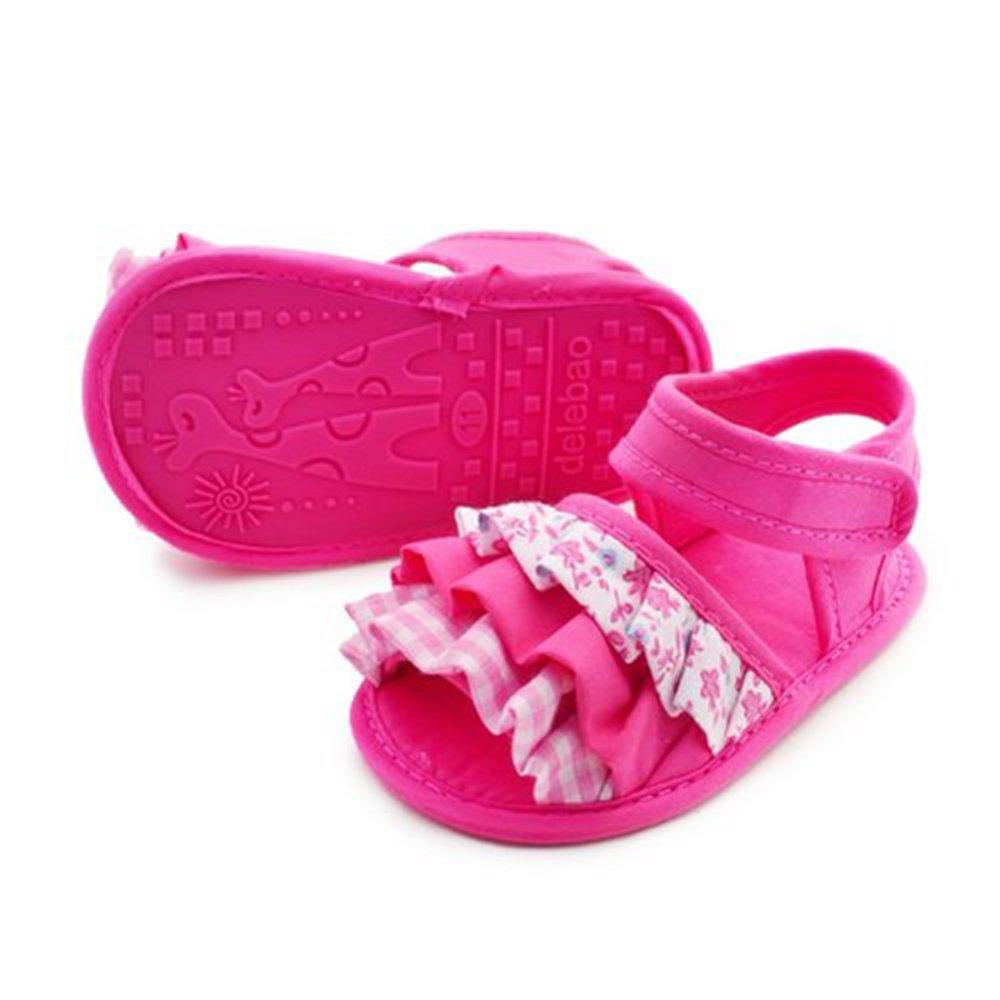 Shuohu Toddler Girls Floral Folding Summer Princess Sandals