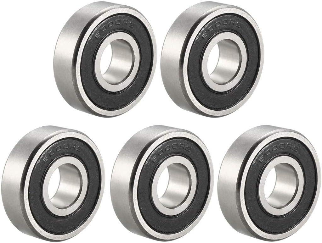 6000ZZ Deep Groove Ball Bearing 10x26x8mm Double Shielded Chrome Steel Bearings 10 Pack