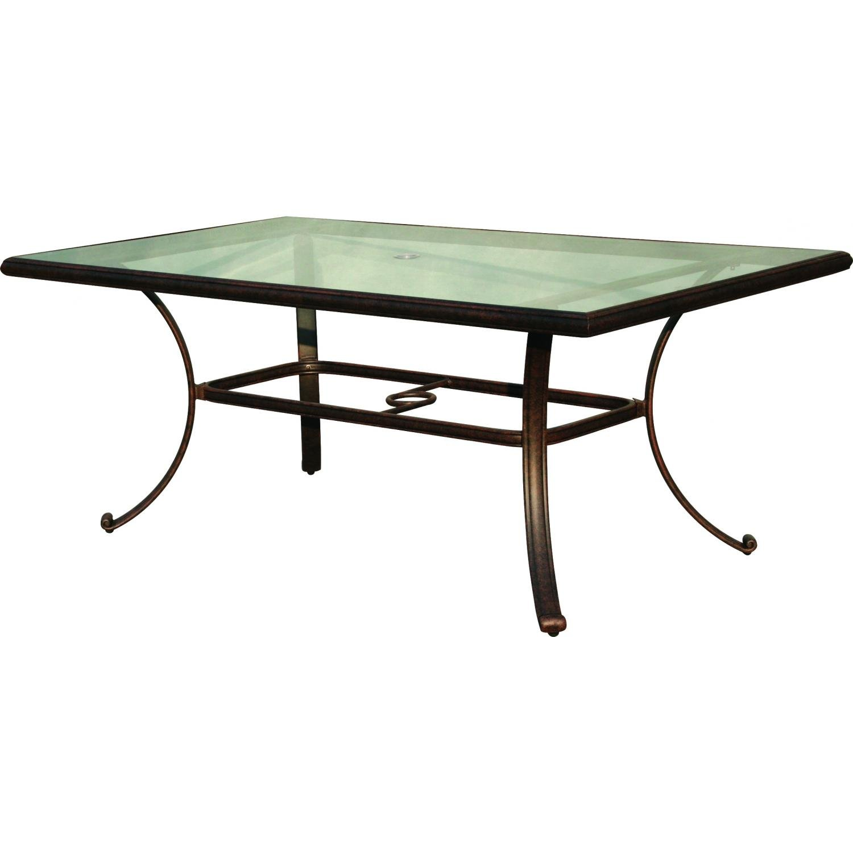 Wondrous Amazon Com Darlee Patio 42 X 72 Dining Table With Glass Beutiful Home Inspiration Xortanetmahrainfo