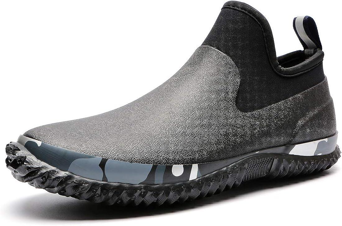 TENGTA Unisex Waterproof Garden Shoes Womens Rain Boots Mens Car Wash Footwear