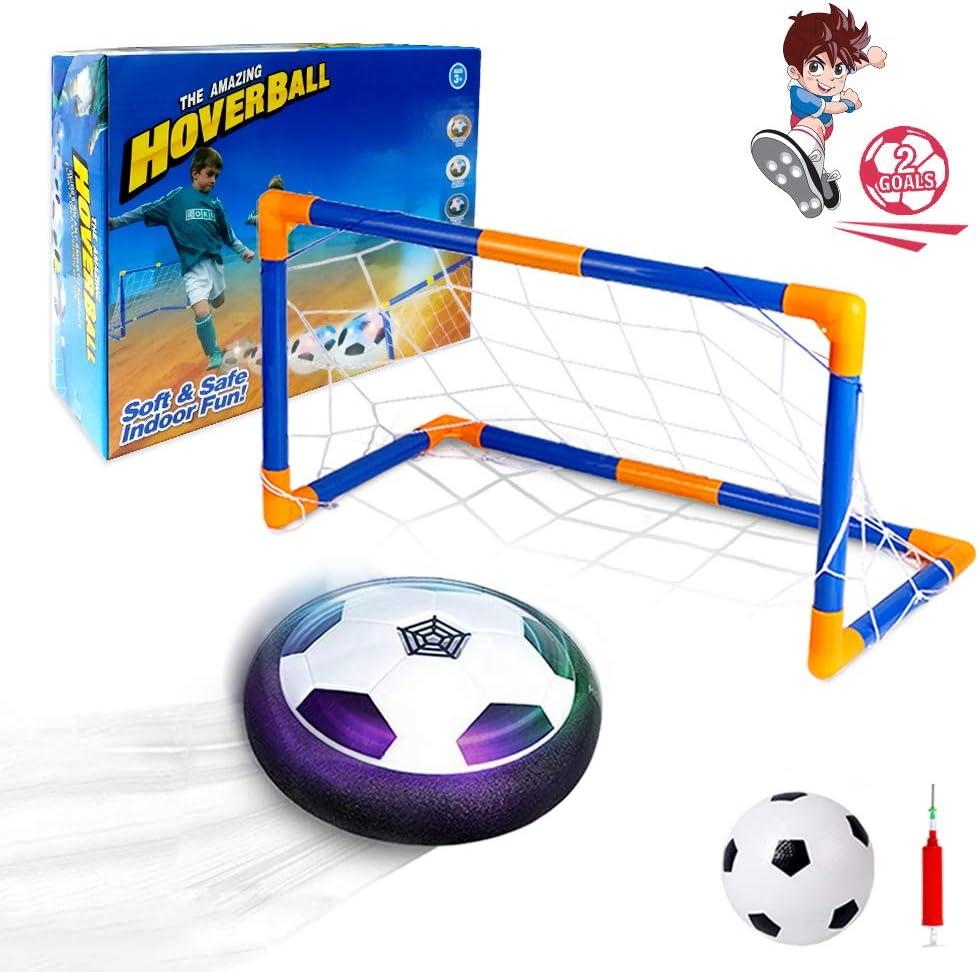 VCOSTORE Air Power Soccer Hover Ball, fútbol suspendido Recargable con Luces LED para niños Familia Juego Interior y Exterior