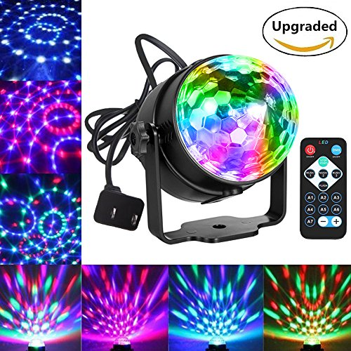 Party Lights Disco Ball Dj Lights, Blingco Disco Lights Sound Activated Strobe Lights Party Ball Light LED Stage Lights Effect Show Lighting Disco Light for Birthday DJ Kids Xmas Club -