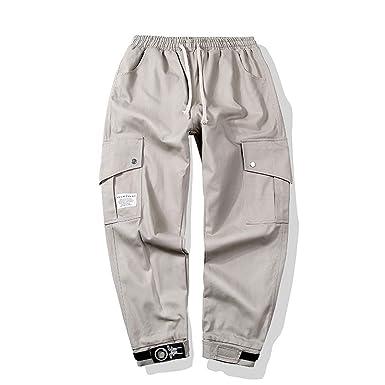 Geilisungren Pantalones de Hombre, Pantalones Casual de Tendencia ...
