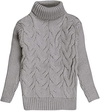 Baby Beard Turtleneck Sweater Kids Boys Girls Fall Winter Pullover Cardigan Tops