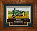 John Deere Model A Late-Styled 1939-1946 FP Tractor Pictures Wall Decor Framed Art Farmer Gift