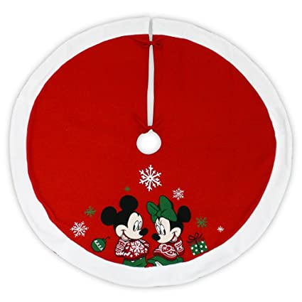 disney 48 inch christmas tree skirt mickey mouse and minnie mouse