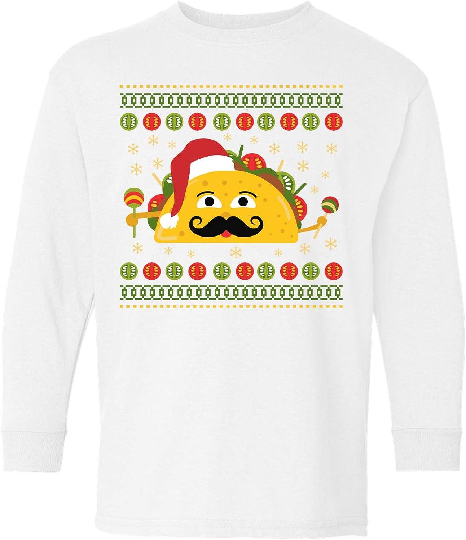 Awkward Styles Ugly Christmas Long Sleeve Shirt for Kids Youth Boys Girls Xmas Taco Shirt