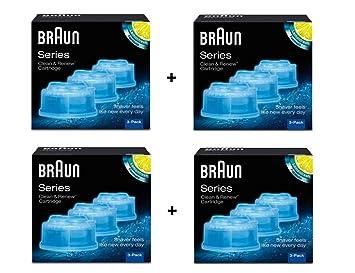 Braun-Lote de 12 recargas para sistema de líquido limpiador Clean ...