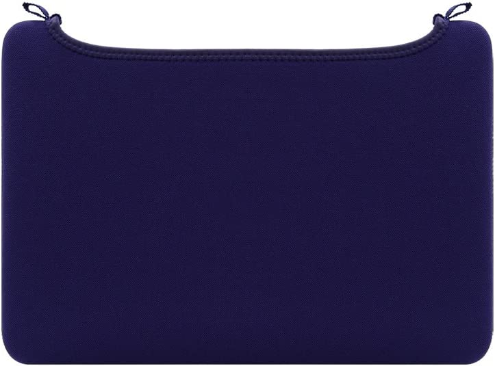 RAINYEAR 12'' Neoprene Laptop Sleeve Protective Elastic Open No-Zipper Cover Unclosed Soft Padded Carrying Bag Computer Case Specially Compatible with 12 Inch New MacBook (Deep Purple)