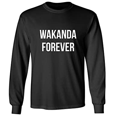 7144b6571 ZeroGravitee Wakanda Forever Adult Long Sleeve T-Shirt In Black - Small