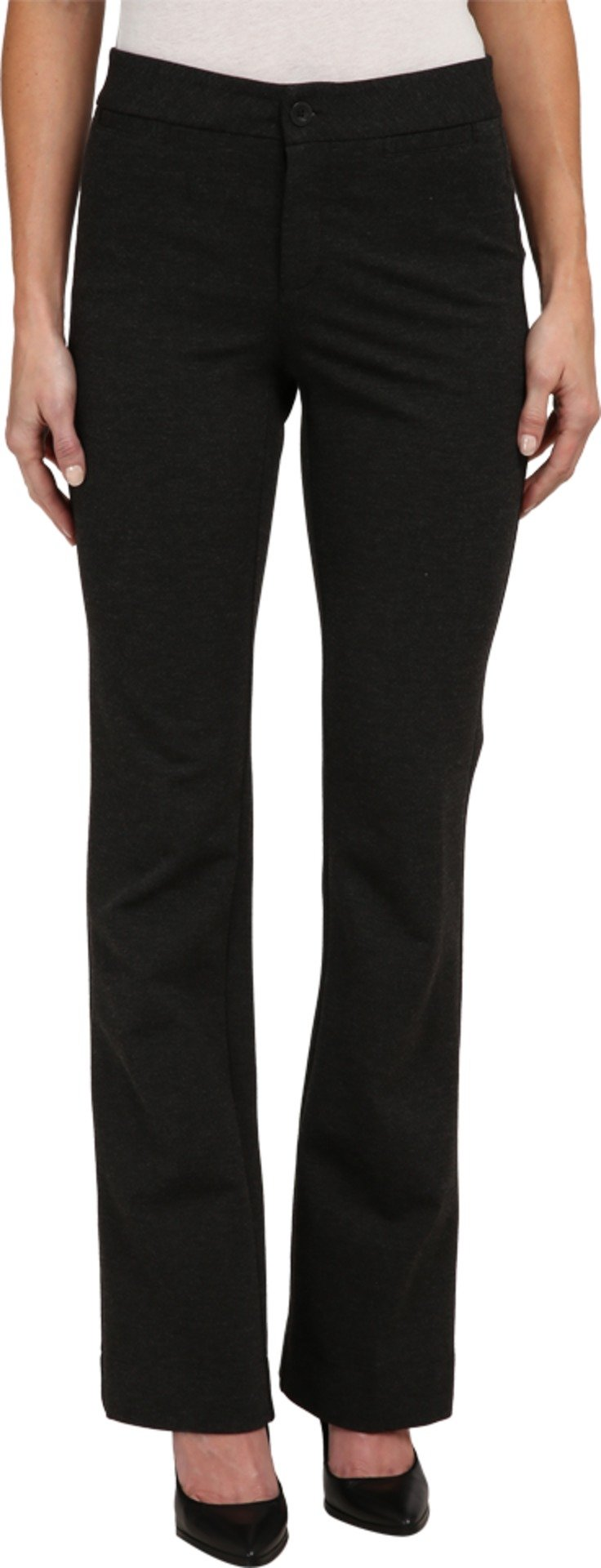 NYDJ Women's Michelle Ponte Trouser Charcoal Pants