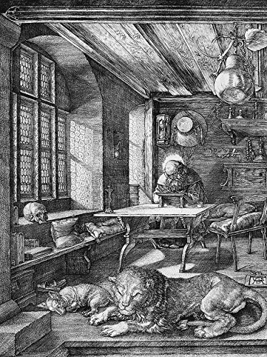 Albrecht Durer Hieronymus St Jerome in His Study Old Art Poster Print