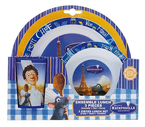- Fun House 005203Ratatouille Children's Lunch Set Polypropylene Blue 26.5x 7x 25cm, 3Pieces