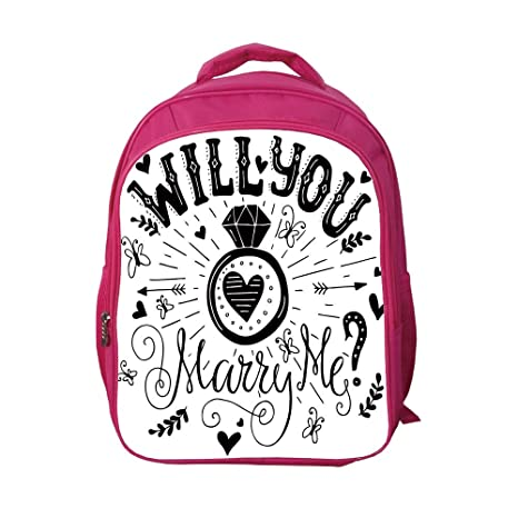 9b6e9e19b834 iPrint School Bags Kid's Backpacks Custom,Engagement Party  Decorations,Western Themed Will You Marry