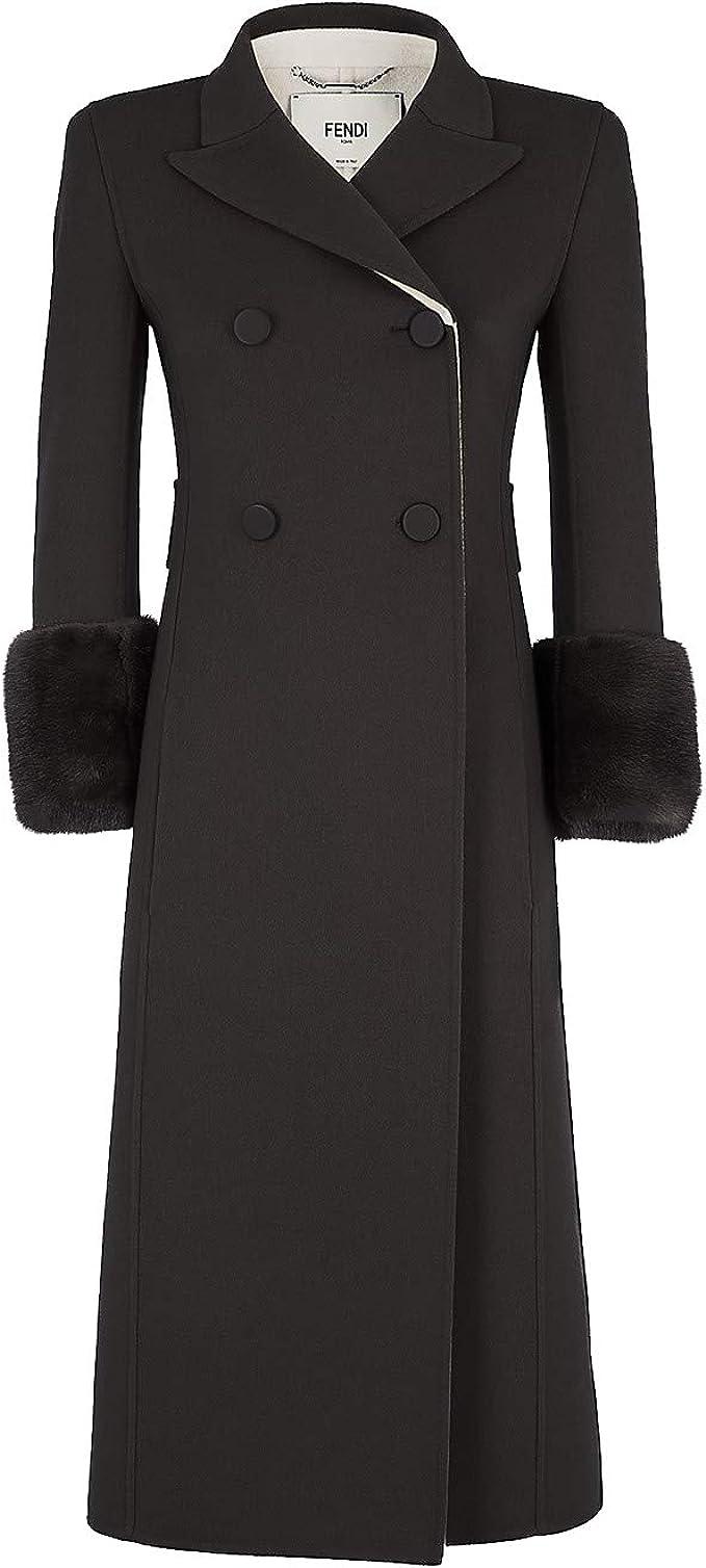 Fendi Damen Mantel Schwarz Schwarz Gr. Hersteller Größen 42