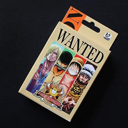 Juego de cartas de póquer de ALTcompluser Anime One Piece con 54 hojas, regalo para fans Wanted: Amazon.es: Hogar