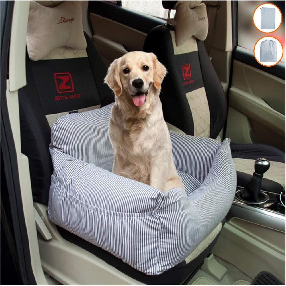 BCOO Dog car seat Pet car seat Pet Height seat Dog Booster car seat,Suitable for Small and Medium-Sized Dogs or Cats Weighing 30 pounds,Provide 1 a Large Storage Bag to Organize The Dog seat