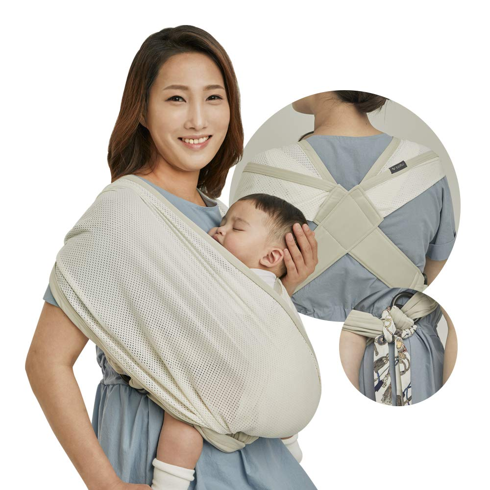 New Born to 35lbs Beige TODBI Ring Sling Baby Carrier