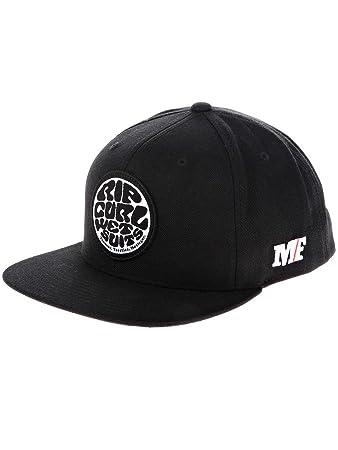145cb6b0 RIP CURL Men's Mf Wetty Snap Back Cap, Black, One Size: Amazon.co.uk ...