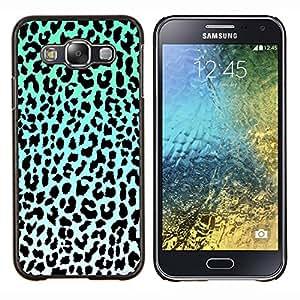 Dragon Case - FOR Samsung Galaxy E5 E500 - leopard pattern blue black white green - Caja protectora de pl??stico duro de la cubierta Dise?¡Ào Slim Fit