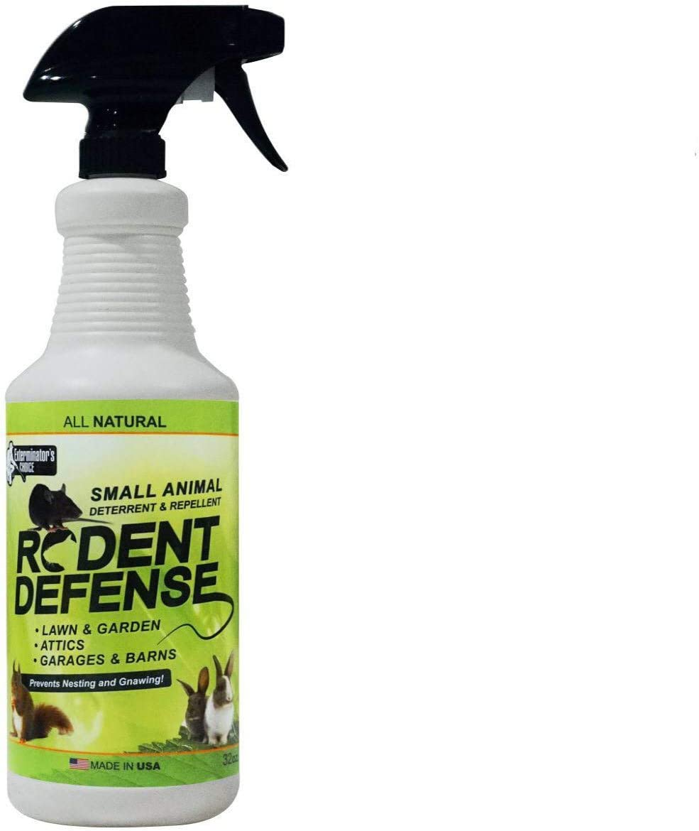 Exterminators Choice Small Animal Protection Rodent Defense Repellent for Rodents, Rats Squirrels mice Nesting/Chewing-All Natural-Rats, Squirrels & Others.