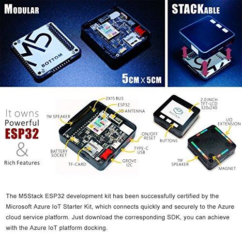 MakerFocus M5Stack ESP32 Series Basic Core IoT Development Kit Extensible  Micro Control WiFi Esp32 Ble for Arduino Suitable for STEM Education