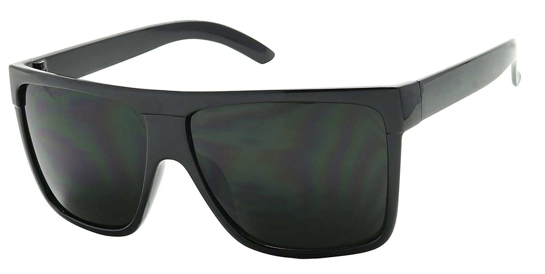 5fd0bacee Amazon.com: Basik Eyewear - Super Extremely Dark Black Retro Round Classic 80's  Sunglasses 1 or 2 Pairs (Glossy 2 Pack Deal, Dark Black): Clothing
