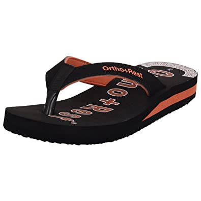 Ortho + Rest Black Slippers for Women  Buy Online at Low Prices in India -  Amazon.in fd35049d7