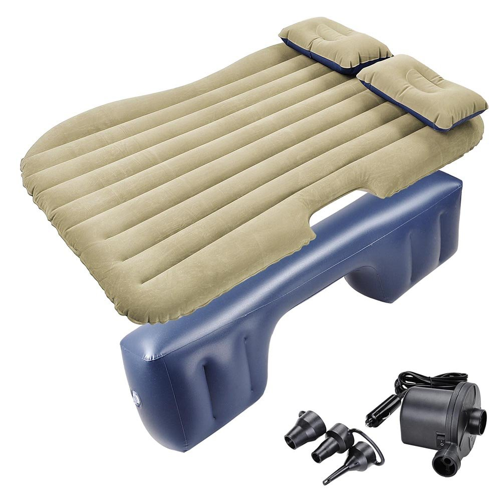 Yescom Inflatable Mattress Car Air Bed Backseat Cushion Travel Camping w/Pillow Pump
