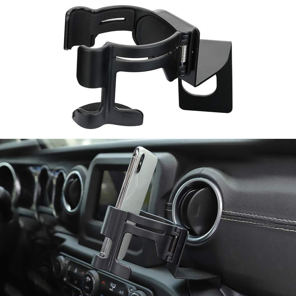 Cup Holder Mobile Phone Mount Braket Cradle for 2018-2019 Jeep Wrangler JL Sports Sahara Unlimited /& JL Rubicon Gladiator JT