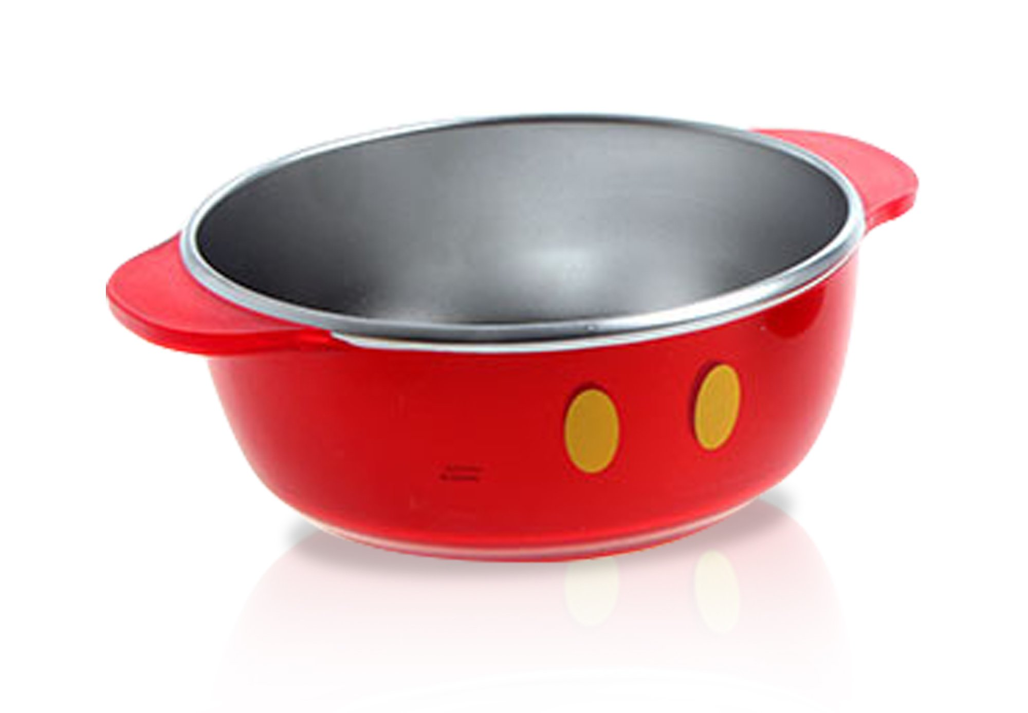 Finex - Made in Korea - Red Mickey Mouse Non-slip Stainless Steel Bowl for kids (Large)