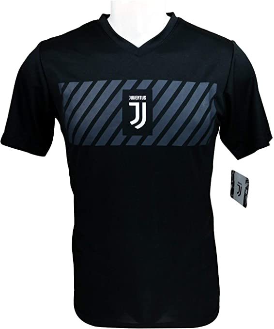 Icon Sports Men Compatible with Juventus Officially Licensedly Licensed Soccer Poly Shirt Jersey 03
