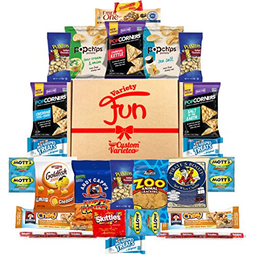 Yummy Snacks Care Package Includes Cookies, Candy & Bars Assortment (25 Count) (Sports Care Package)