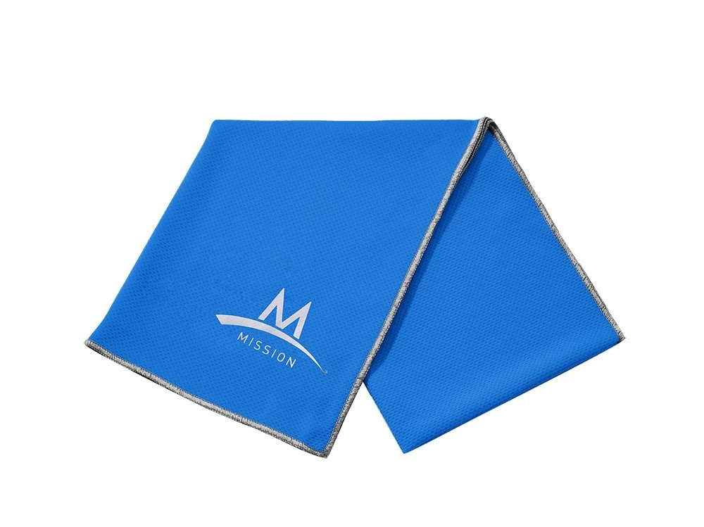 Amazon.com : Mission Enduracool Techknit Cooling Towel, X-Large, Blue : Hot And Cold Sports Therapy Products : Sports & Outdoors