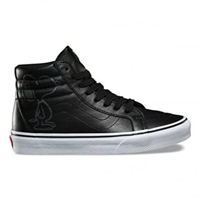 9169af5e4d6dab Image Unavailable. Image not available for. Color  Vans Sk8 Hi Reissue  Youth Size 5.5 Womens 7 Peanuts Snoopy Black Embossed Leather Skateboarding  Shoes