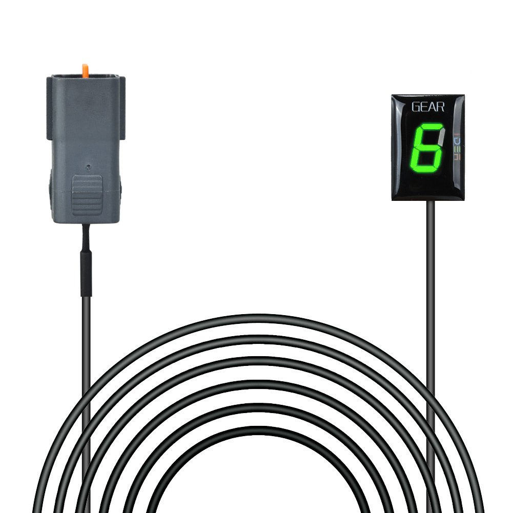 IDEA Waterproof Motorcycle Gear Indicator LED Display for Kawasaki Plug /& Play Old Year Model, red