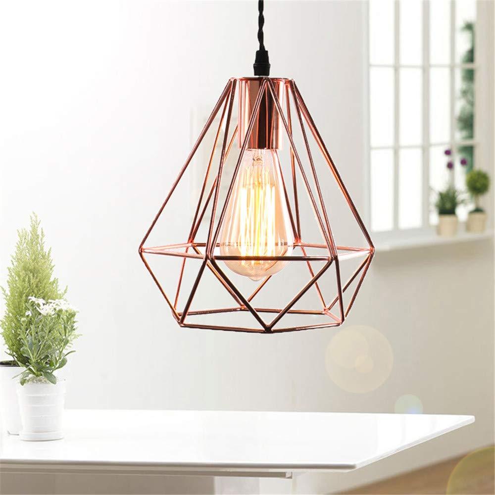 Gold Pendelleuchte Retro Metall Käfig Hänge Lampenschirm Edison E27 Deckenleuchte Vintage Innenbeleuchtung für Wohnzimmer Küche Esszimmer Schlafzimme