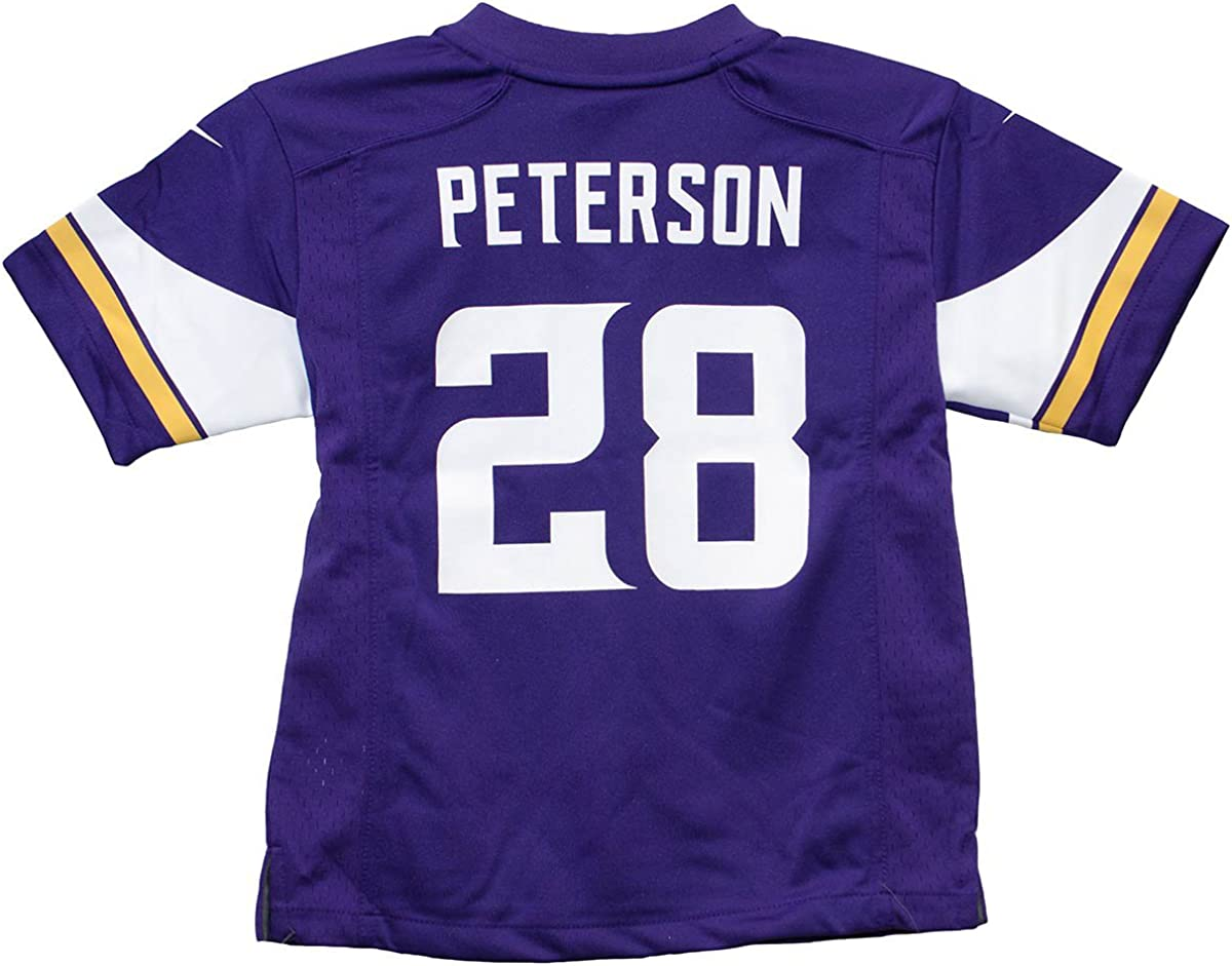 Adrian Peterson Minnesota Vikings Team Color Nike Game Youth NFL Jersey (Small 8)