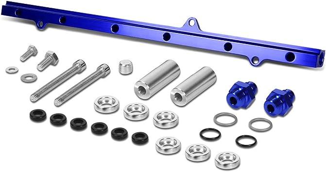 Blue Aluminum Fuel Injector Rail Kit For Toyota 93-98 Supra MK4//2JZ-GTE JZA80
