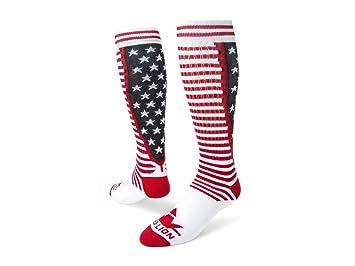 Red Lion Socks Rojo diseño de León Unidos acrílico Athletic calcetines, hombre Niños niña mujer, White/Navy/Red: Amazon.es: Deportes y aire libre