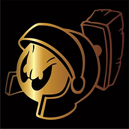 amazon com marvin martian decal sticker gold 4 looney toons