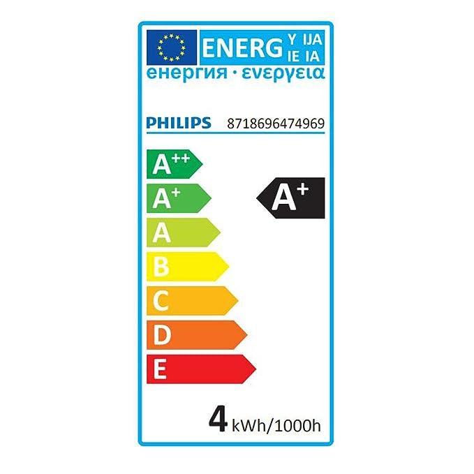 8718696474969-10er-Pack Philips E27 LED 4 Watt ersetzt 25 Watt 2700K Warmwei/ß 250lm H/öhe 87mm /Ø 45mm matt
