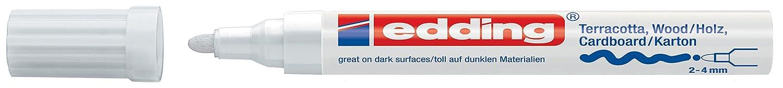 edding Dekomarker edding 4000 creative, 2-4 mm, weiß weiß 4-4000049